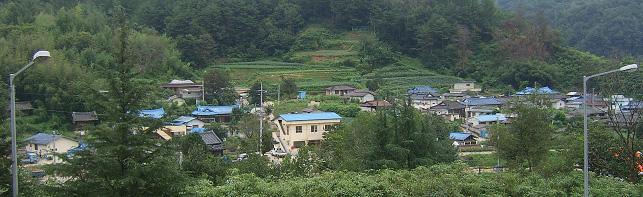 상촌(上村)마을 전경