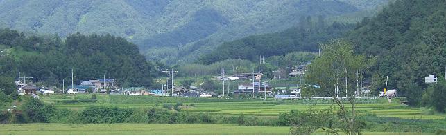 산포(山浦)마을 전경