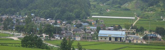 신기(新基)마을 전경