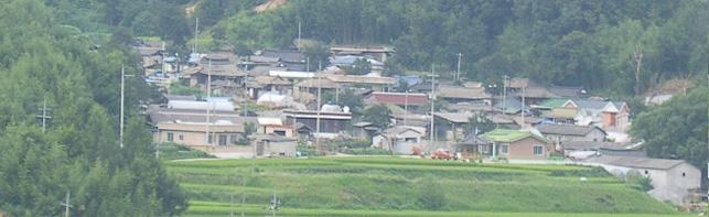 천동(泉洞)마을 전경